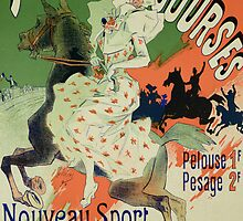Reproduction of a poster advertising Paris Courses by Bridgeman Art Library