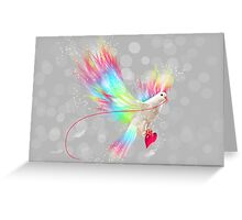 I Carry Your Heart With Me (Neon Wings Series I) Greeting Card
