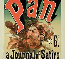 Reproduction of a poster advertising Pan by Bridgeman Art Library