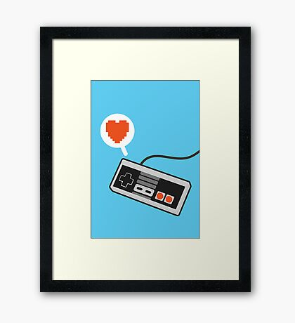 I HEART NES Framed Print