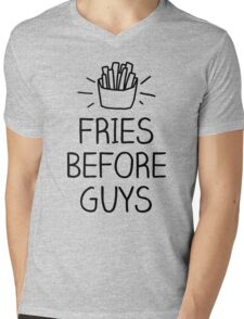 fries before guys- hand lettered Mens V-Neck T-Shirt