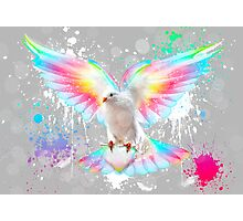Beauty Is A Light In The Heart - (Neon Wings Series IV) Photographic Print