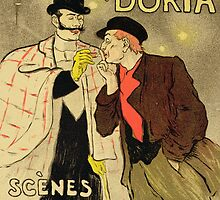 Reproduction of a poster advertising Mothu and Doria in impressionist scenes by Bridgeman Art Library