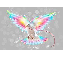 The Key is to Believe in the Impossible (Neon Wings Series III) Photographic Print