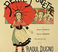 Reproduction of a poster advertising the operetta La Petite Poucette by Bridgeman Art Library