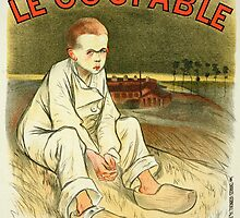 Reproduction of a poster advertising the novel Le Coupable by Bridgeman Art Library