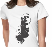 Hair curly Womens Fitted T-Shirt