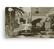 Oldies in Corsica Canvas Print