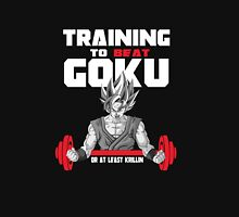 Training To Beat Goku  Women's Fitted Scoop T-Shirt