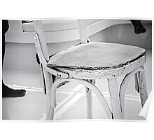 White chair Poster