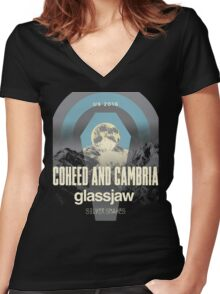 coheed and cambria the color before the sun Tour 2016 AM1 Women's Fitted V-Neck T-Shirt