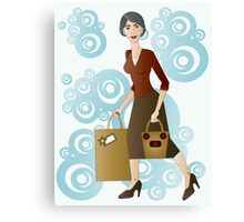 Beautiful lady wearing brown  Canvas Print