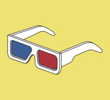 3D Glasses T Shirt BIGGER by Fangpunk