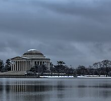 Jefferson Memorial in winter 1 by mkurec