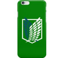 Survey Corps Badge iPhone Case/Skin