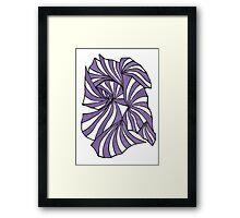 Purple Retro Stripes Framed Print