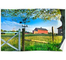 Summer Evening on the Farm Poster