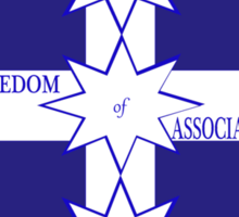 Freedom Of Association Eureka Flag Sticker