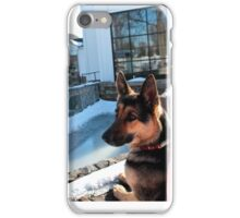 German Shepard Awaits Owner iPhone Case/Skin