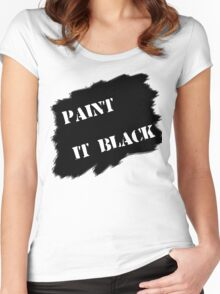 Paint it black Women's Fitted Scoop T-Shirt