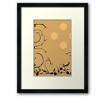 Flower Scribble Swirls And Twirls Framed Print