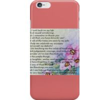 Mother's Day Poem iPhone Case/Skin