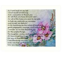 Mother's Day Poem Art Print