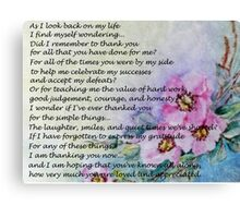 Mother's Day Poem Canvas Print