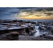 Wet rocks Photographic Print