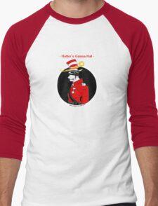 Hatters Gonna Hat - RED Men's Baseball ¾ T-Shirt