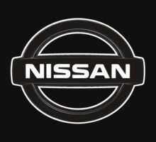 Custom black and white nissan logo JDM by xDC3