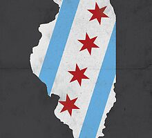 Chicago Flag Illinois Print by MNDesigns