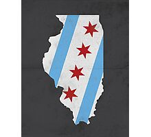 Chicago Flag Illinois Print Photographic Print