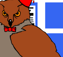 Doctor Hoot Sticker