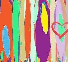 Watercolor palette in stripes by benedita