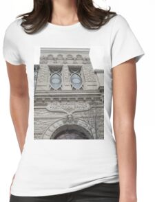 Classic Architecture, Chestnut Street, Philadelphia, Pennsylvania Womens Fitted T-Shirt