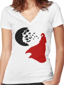 RWBY Moon Women's Fitted V-Neck T-Shirt