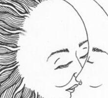 Sun kissing the moon Sticker