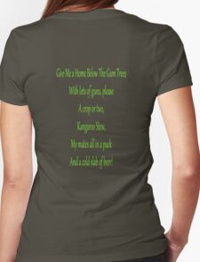 Home Below The Gum Trees Womens Fitted T-Shirt