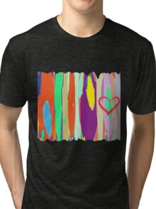 Watercolor palette in stripes Tri-blend T-Shirt