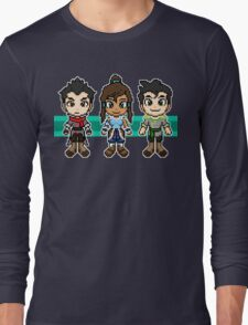 Legend of Korra - The Fire Ferrets Pixels Long Sleeve T-Shirt