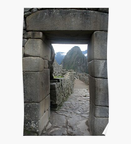 Doorway to Machu Picchu Poster
