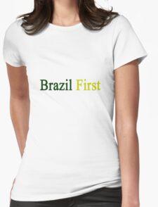 Brazil First  Womens Fitted T-Shirt