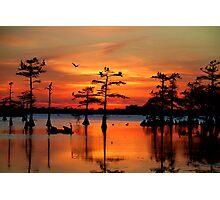 Sunset on the Bayou Photographic Print
