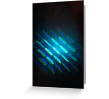 Blue Hologram Greeting Card