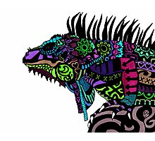 (Day of the) Dead Iguana II Photographic Print