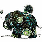 The Elephant and the Peacock by © Karin (Cassidy) Taylor