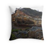 Ray Black Beach Australia Throw Pillow