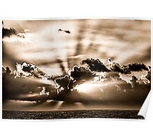Sunset from Depoe Bay, Oregon Poster