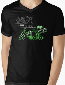 We Reject Your Cannon (Green Version) Mens V-Neck T-Shirt